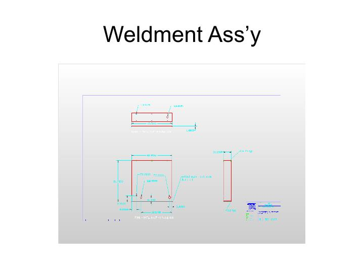 Weldment Ass'y