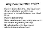 why contract with tdis
