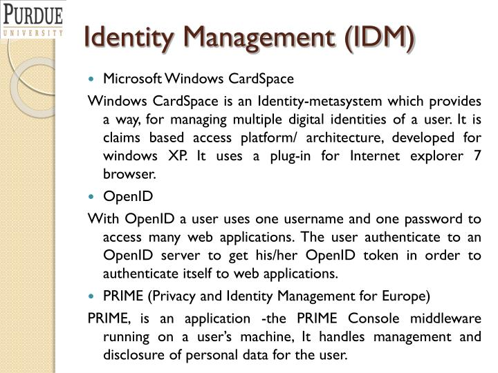 Identity Management (IDM)