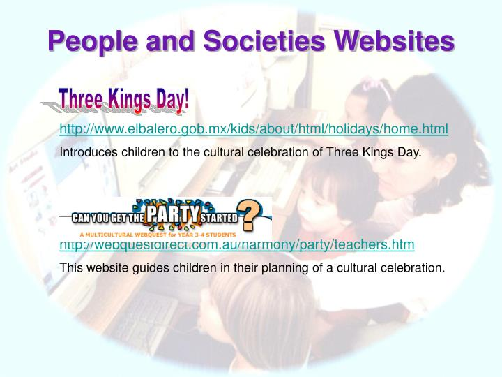 People and Societies Websites