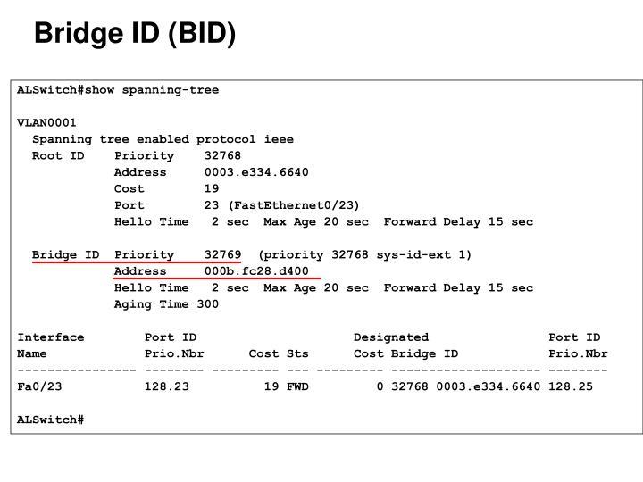 Bridge ID (BID)