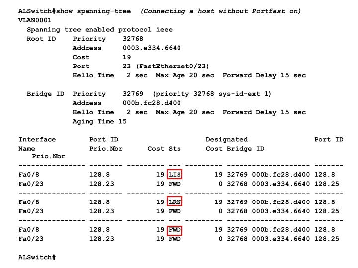 ALSwitch#show spanning-tree