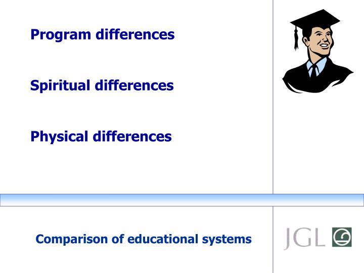 Program differences