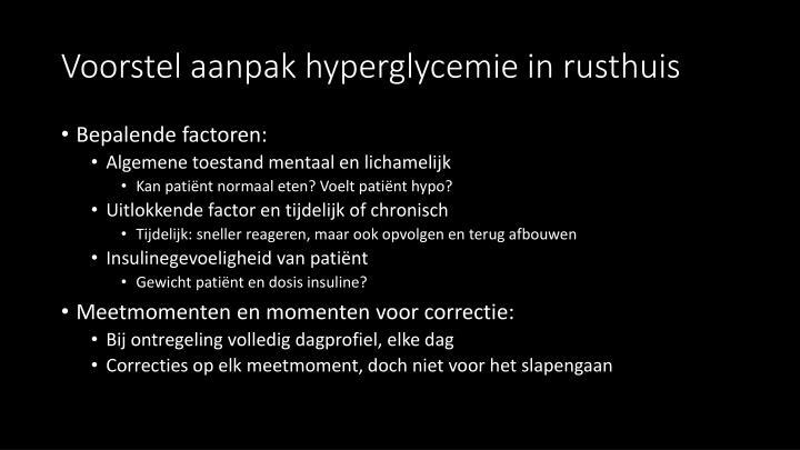 Voorstel aanpak hyperglycemie in rusthuis