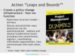 action leaps and bounds
