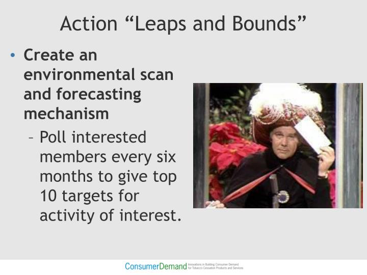 "Action ""Leaps and Bounds"""
