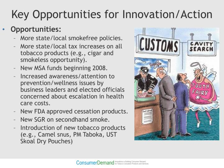 Key Opportunities for Innovation/Action