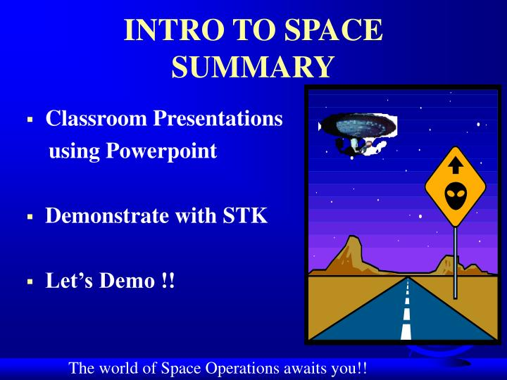 INTRO TO SPACE