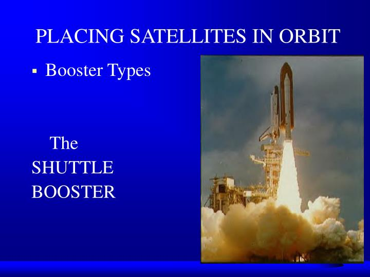 PLACING SATELLITES IN ORBIT