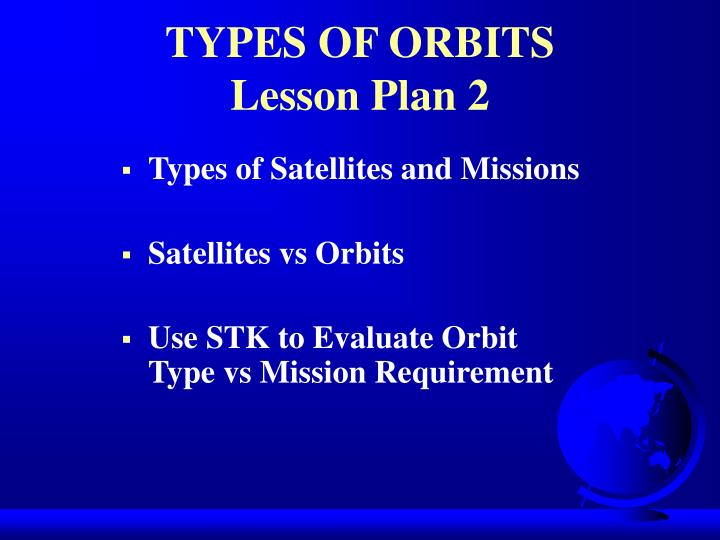TYPES OF ORBITS