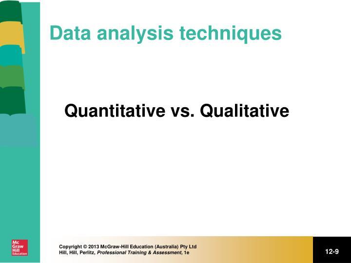 Data analysis techniques