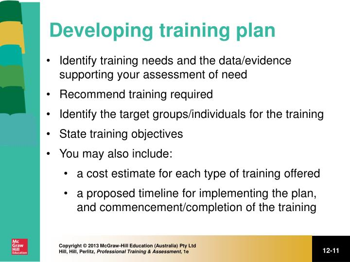 Developing training plan