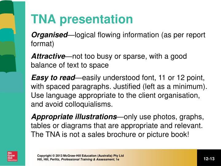 TNA presentation