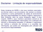 disclaimer limita o de responsabilidade