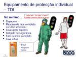 equipamento de protec o individual tdi