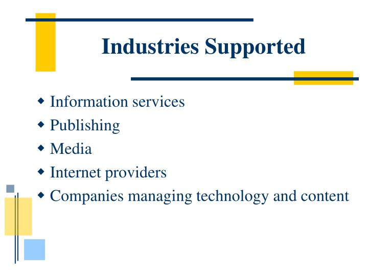 Industries Supported