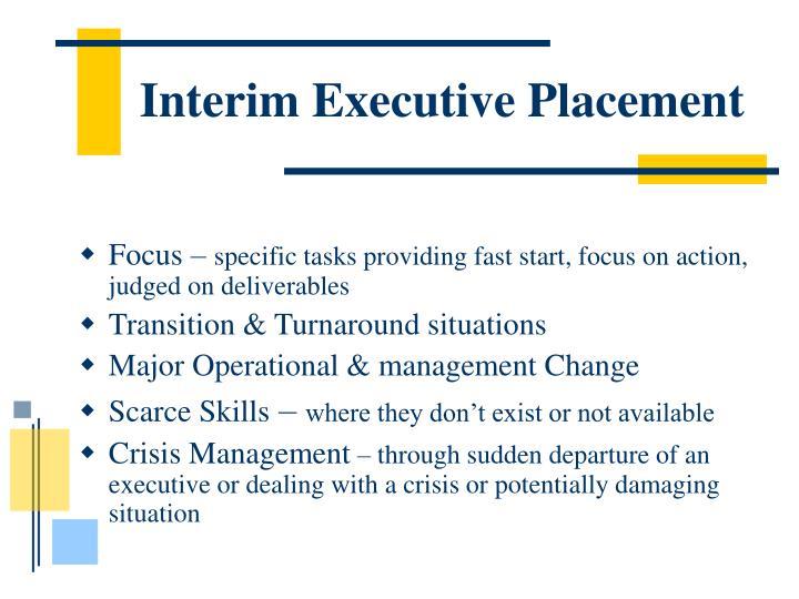Interim Executive Placement