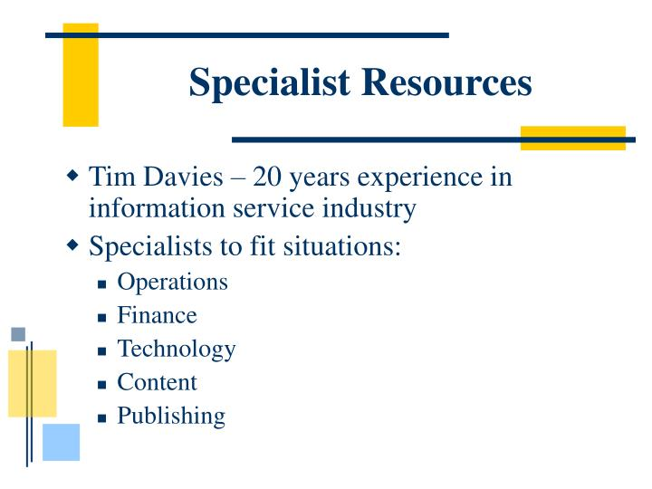 Specialist Resources