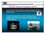 ocean survey program osp