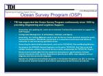 ocean survey program osp2