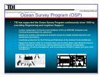 ocean survey program osp3