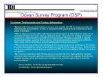 ocean survey program osp5