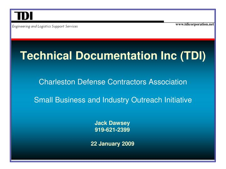 Technical Documentation Inc (TDI)