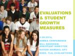 evaluations student growth measures
