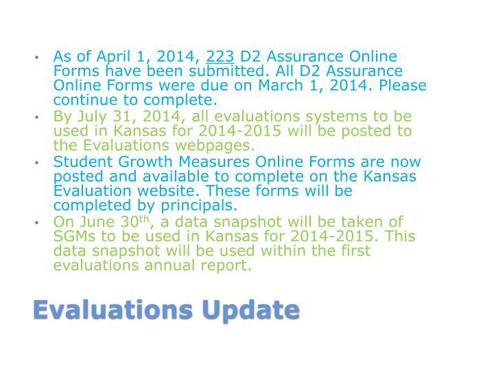 As of April 1, 2014,