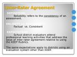 inter rater agreement