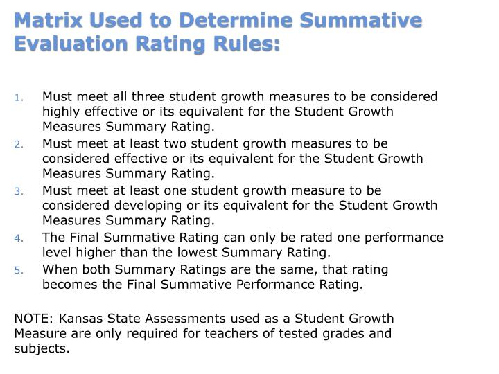 Must meet all three student growth measures to be considered highly effective or its equivalent for the Student Growth Measures Summary Rating.