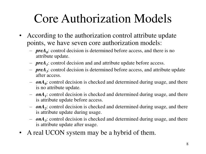 Core Authorization Models