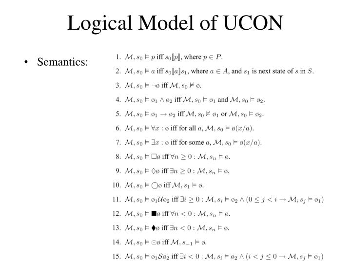 Logical Model of UCON