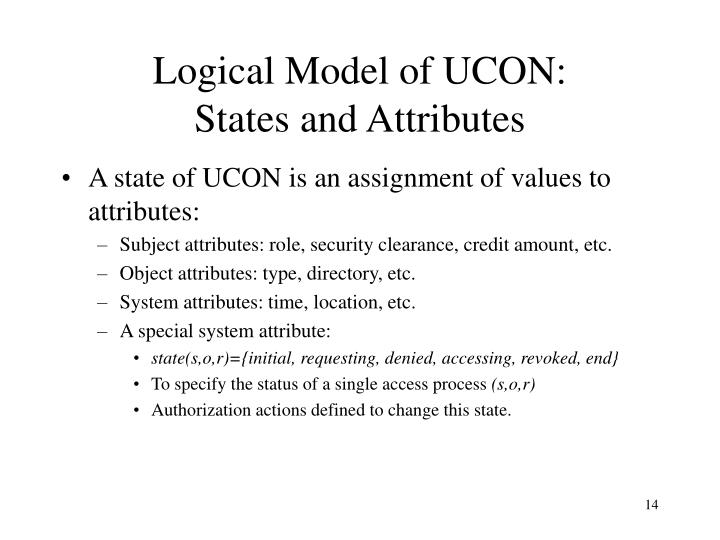 Logical Model of UCON: