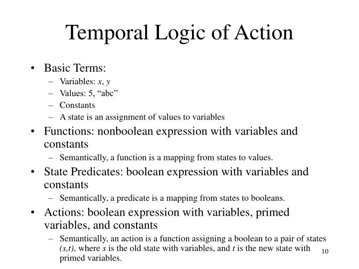 Temporal Logic of Action