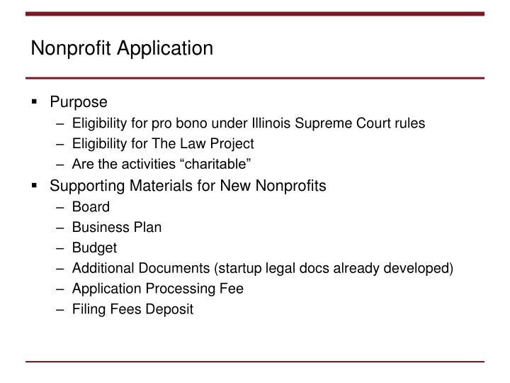 Nonprofit Application