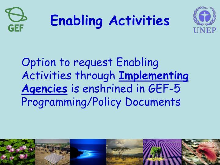 Enabling Activities