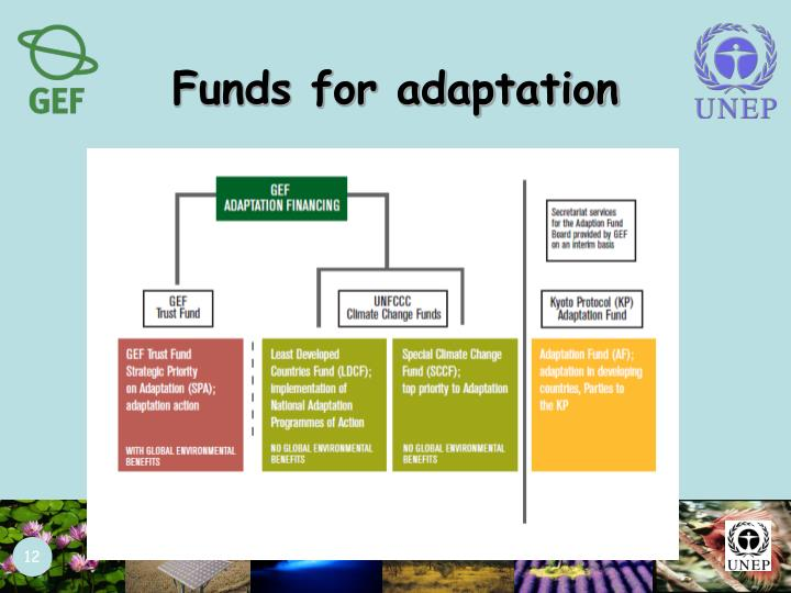 Funds for adaptation