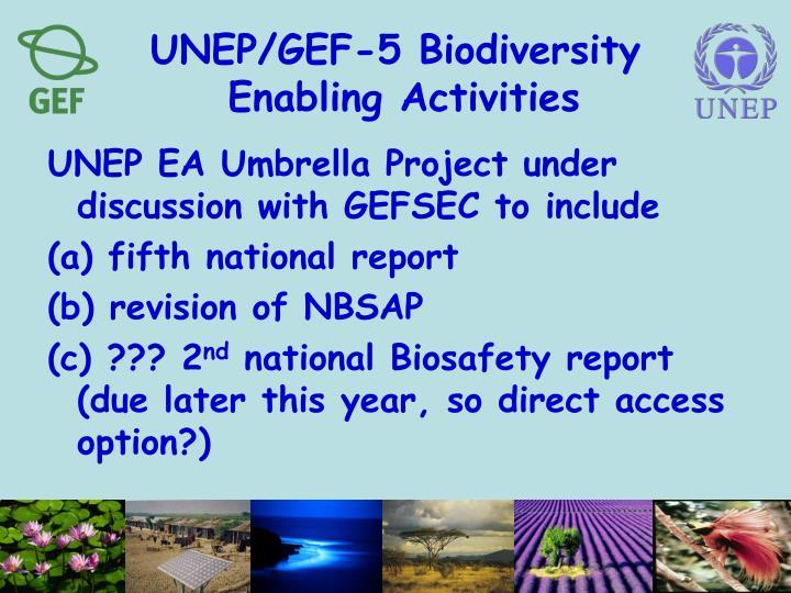 UNEP/GEF-5 Biodiversity
