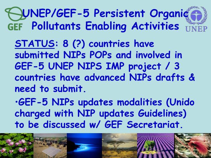 UNEP/GEF-5 Persistent Organic Pollutants Enabling Activities