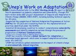 unep s work on adaptation
