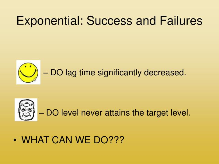 Exponential: Success and Failures