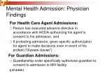 mental health admission physician findings1