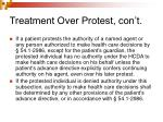treatment over protest con t5