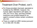 treatment over protest con t6