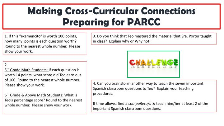 Making Cross-Curricular Connections