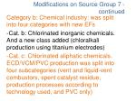 modifications on source group 7 continued