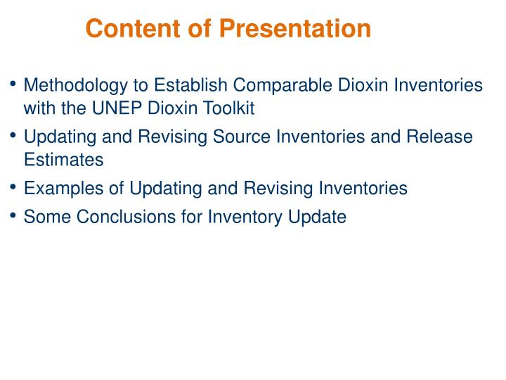 Content of Presentation