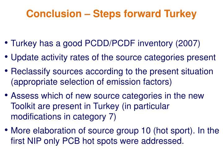 Turkey has a good PCDD/PCDF inventory (2007)