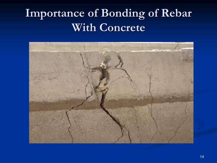 Importance of Bonding of Rebar With Concrete